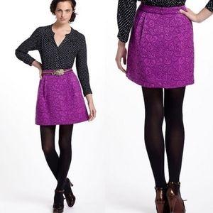 Anthro HD in Paris | Purple Brocade Skirt